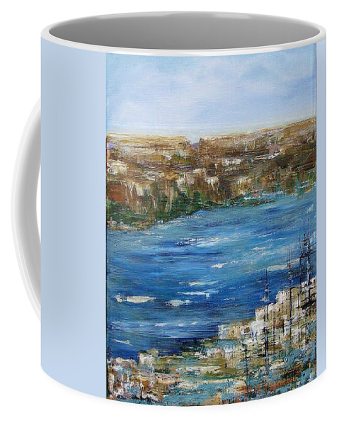 Landscape In Acrylics Coffee Mug featuring the painting Water Way by Elaine Booth-Kallweit