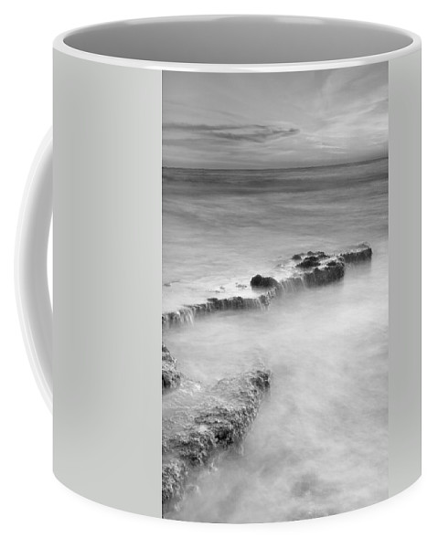 Black And White Coffee Mug featuring the photograph Waterfalls On The Rocks M by Guido Montanes Castillo