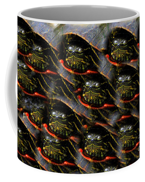 Turtles Coffee Mug featuring the photograph Way To Many Turtles by Rick Rauzi