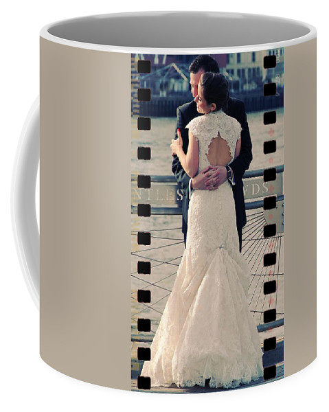Couple Wedding Brooklyn Love Embrace Coffee Mug featuring the photograph Wed In Brooklyn by Alice Gipson