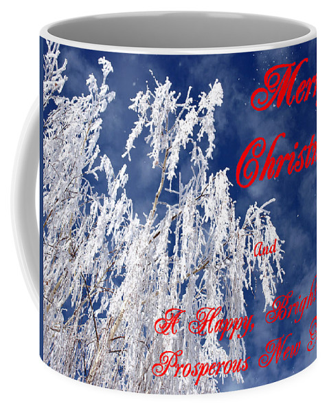 Christmas Coffee Mug featuring the photograph Weeping Willow Christmas by DeeLon Merritt
