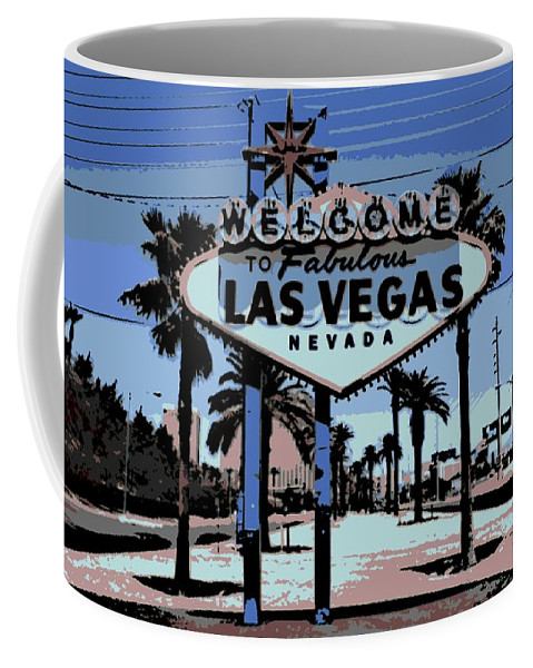 Las Vegas Coffee Mug featuring the photograph Welcome To Vegas by George Pedro