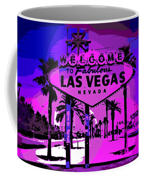 Las Vegas Coffee Mug featuring the photograph Welcome To Vegas No.2 by George Pedro