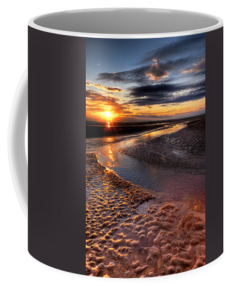 Hdr Coffee Mug featuring the photograph Welsh Sunset by Adrian Evans