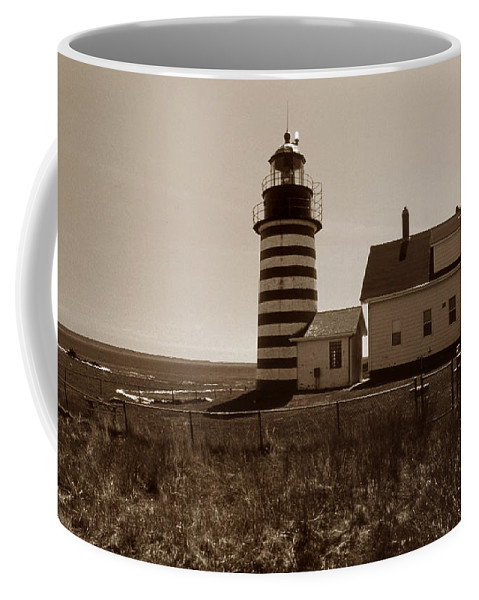 West Quoddy Light Coffee Mug featuring the photograph West Quoddy Lighthouse by Skip Willits