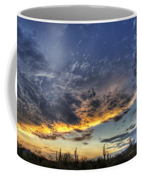 Sunset Coffee Mug featuring the photograph Western Skies by Saija Lehtonen