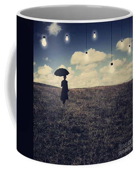 Conceptual Coffee Mug featuring the digital art What You Don't Want To See by Aimelle