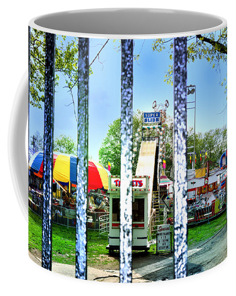 Carnivale Coffee Mug featuring the photograph When The Carnivale Came To Town by Bill Cannon
