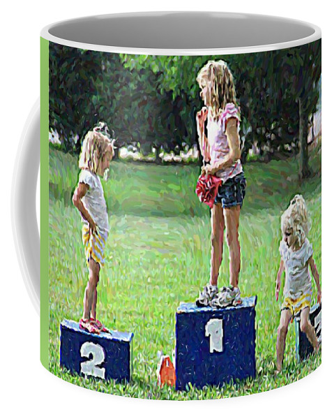 Girls Little Park Scenic Coffee Mug featuring the photograph Which Place Do I Want by Alice Gipson