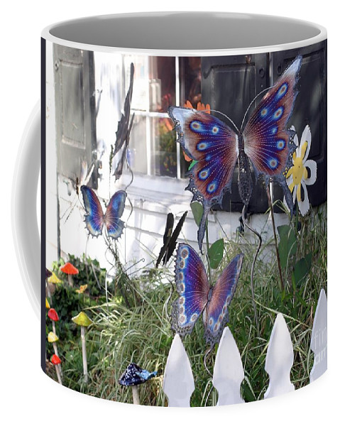 Window Coffee Mug featuring the photograph Whimsical Window by Living Color Photography Lorraine Lynch