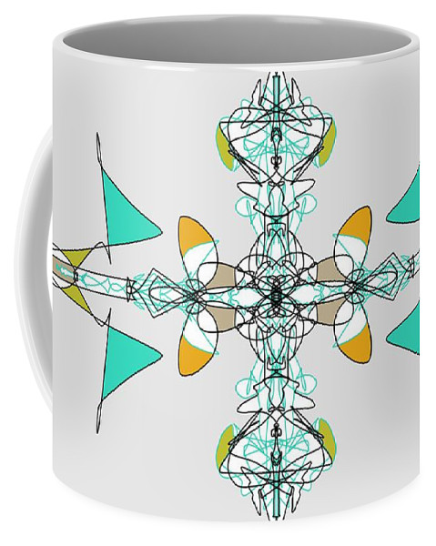 Fractal Coffee Mug featuring the digital art Whirly Birds by George Pedro