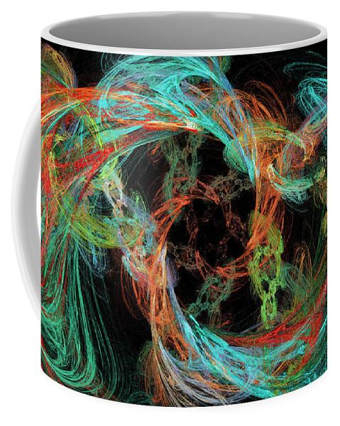 3d Coffee Mug featuring the digital art Whirly Gig by Andee Design