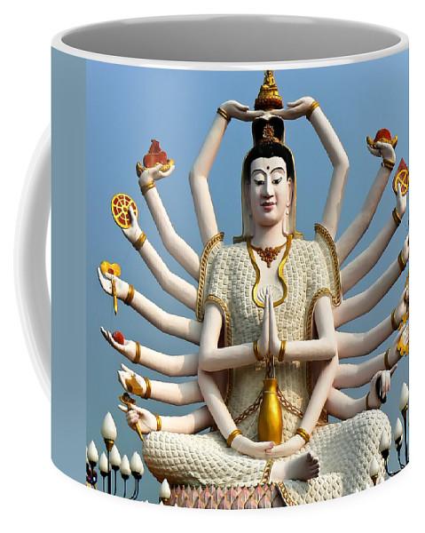Buddha Coffee Mug featuring the photograph White Buddha by Adrian Evans