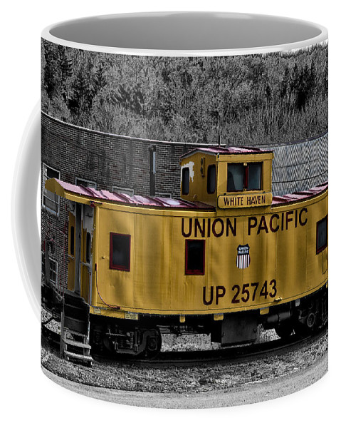 White Haven Coffee Mug featuring the photograph White Haven - Union Pacific by Bill Cannon