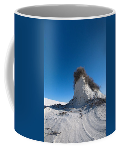 New Mexico Coffee Mug featuring the photograph White Sand Head by Sean Wray