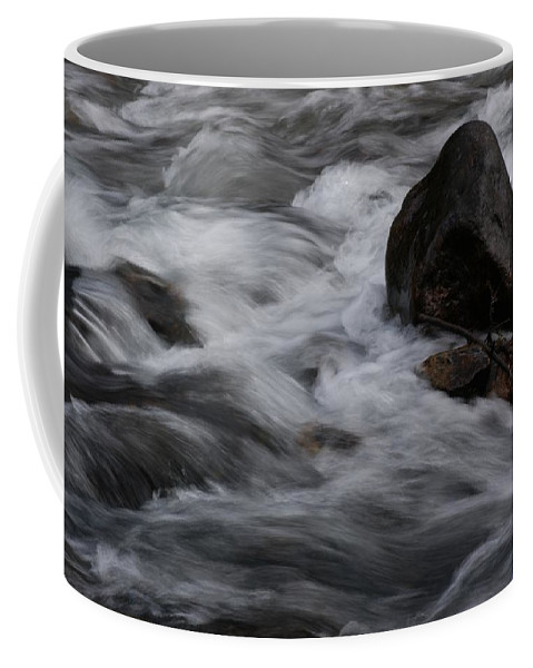 North America Coffee Mug featuring the photograph White Water Rushes Over Rocks by Stacy Gold