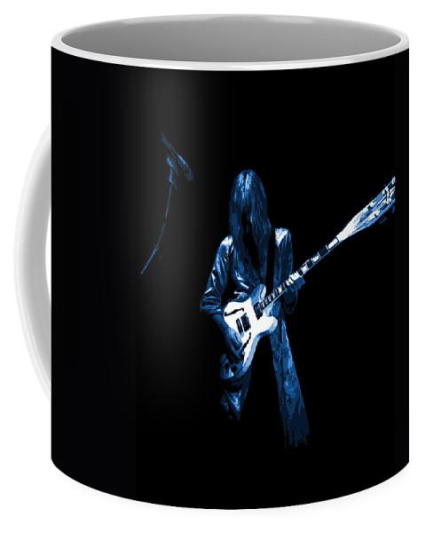 Rock Art Coffee Mug featuring the photograph Wild Blue Guitar by Ben Upham