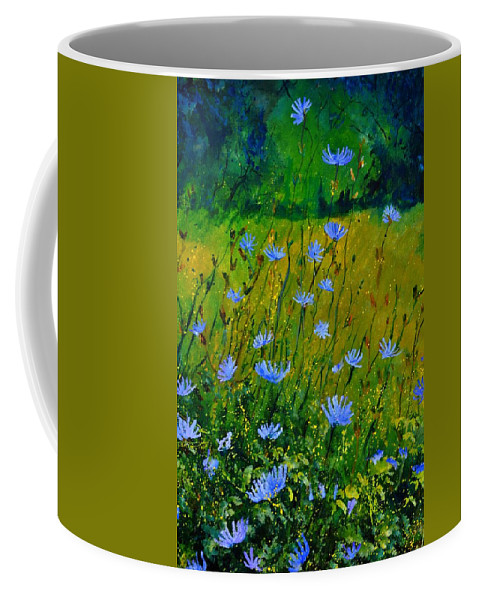 Floral Coffee Mug featuring the painting Wild Flowers 911 by Pol Ledent