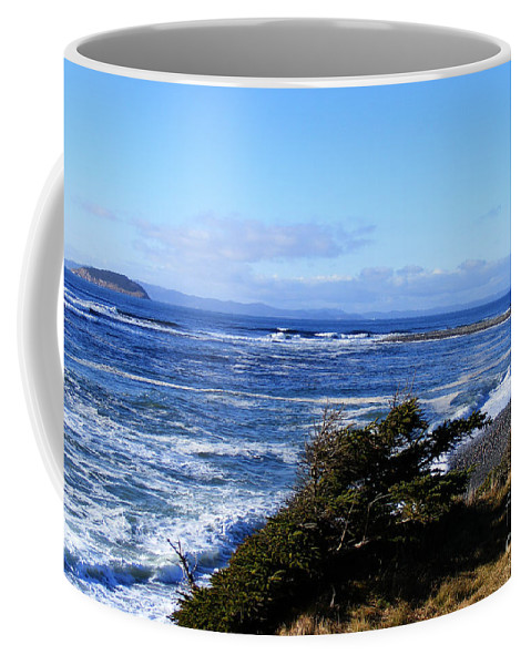 Wild Waves Coffee Mug featuring the photograph Wild Waves by Barbara Griffin