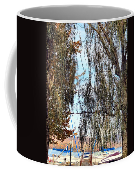 Fall Coffee Mug featuring the photograph Willow Sailing by Art Dingo
