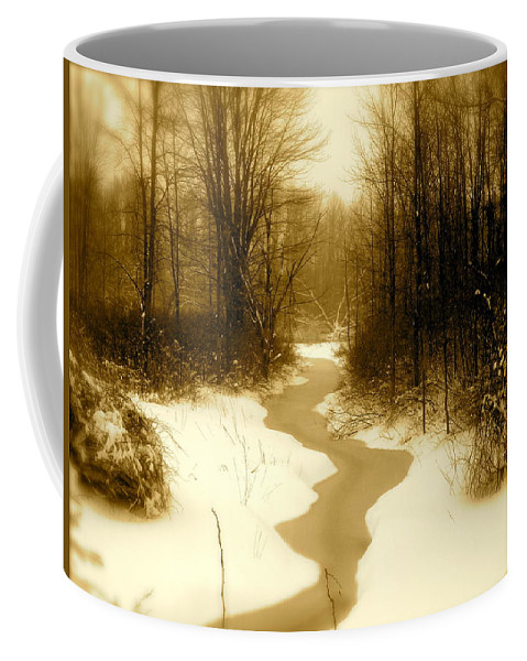 Landscape Coffee Mug featuring the photograph Winding Through by Arthur Barnes