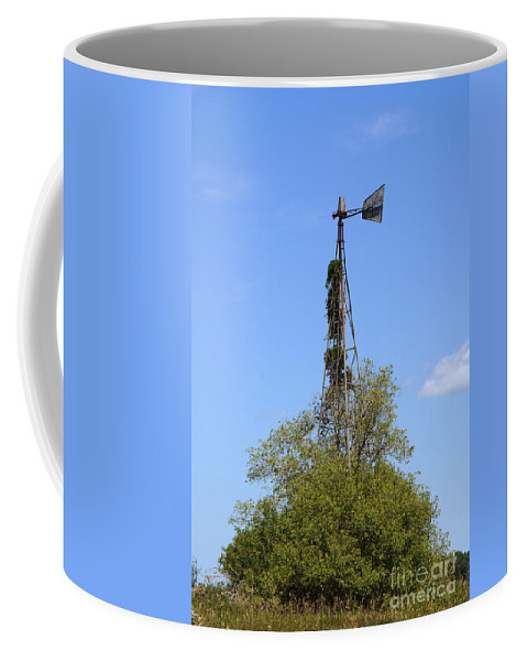 Windmill Coffee Mug featuring the photograph Windmill by Lori Tordsen