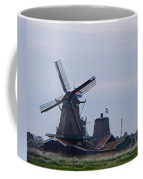 Windmill Coffee Mug featuring the photograph Windmill by Manuela Constantin