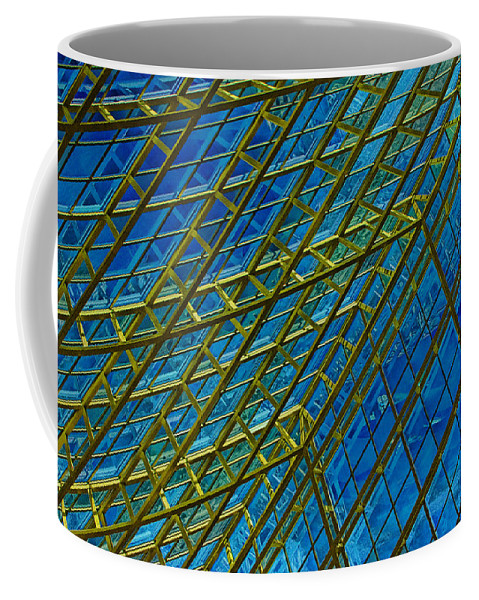 Art Coffee Mug featuring the photograph Windows And Reflections No.1058 by Randall Nyhof