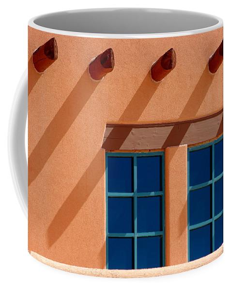 Wall Coffee Mug featuring the photograph Windows Blue by Vicki Pelham