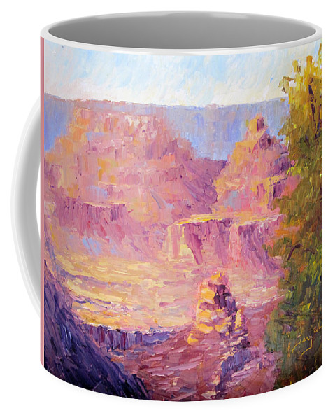 Grand Canyon Coffee Mug featuring the painting Windy Day In The Canyon by Terry Chacon