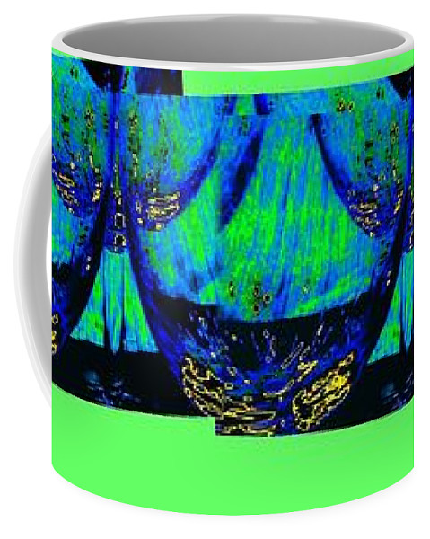 Wine Glasses Coffee Mug featuring the digital art Wine And Dine 3 by Will Borden