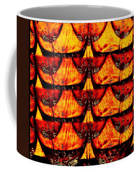 Wine Glasses Coffee Mug featuring the digital art Wine And Dine 4 by Will Borden