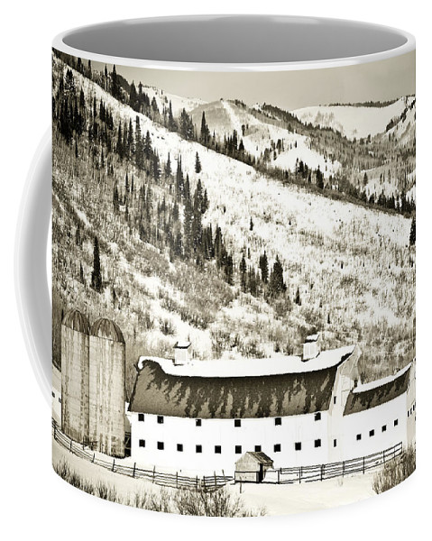 Winter Coffee Mug featuring the photograph Winter Barn 1 by Marilyn Hunt
