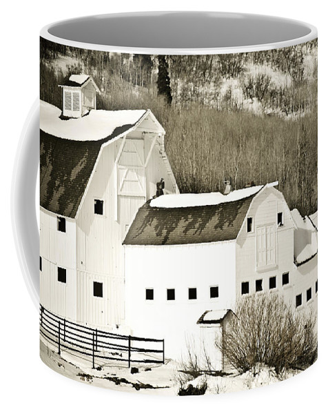 Winter Coffee Mug featuring the photograph Winter Barn 4 by Marilyn Hunt