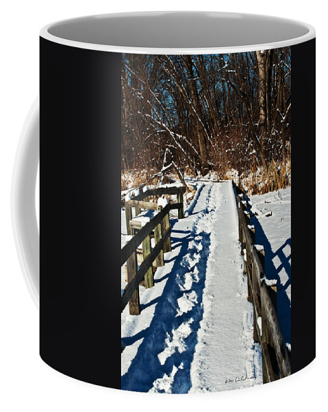 Heron Haven Coffee Mug featuring the photograph Winter Boardwalk by Edward Peterson