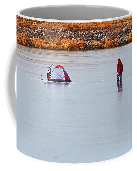 Winter Scene Coffee Mug featuring the photograph Winter Fun by Edward Peterson