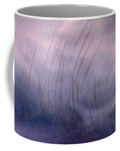 Landscape Coffee Mug featuring the painting Winter Long Grass by Jean Moore