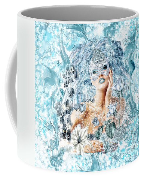 Winter Coffee Mug featuring the digital art Winter by Mo T