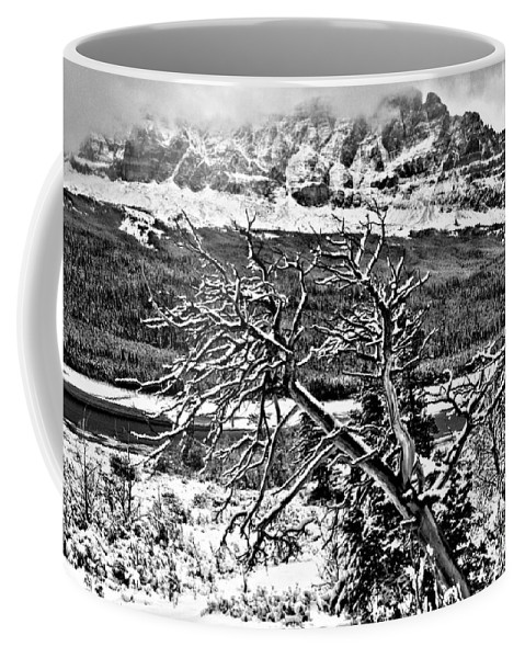 Glacier National Park Coffee Mug featuring the photograph Winter Sets In by Adam Jewell
