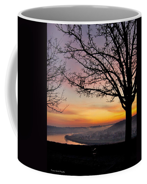 Sunrise Coffee Mug featuring the photograph Winter Sunrise In Eden Park by Constance Sanders