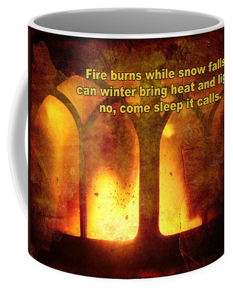 Fire Coffee Mug featuring the photograph Wnter's Fire by Mother Nature