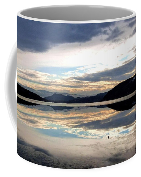 Wood Lake Coffee Mug featuring the photograph Wood Lake Mirror Image by Will Borden