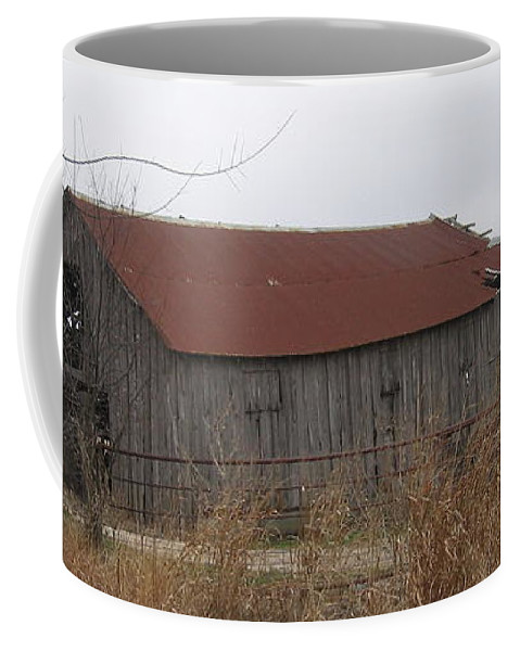 Coffee Mug featuring the photograph Wooden Barn by Amy Hosp