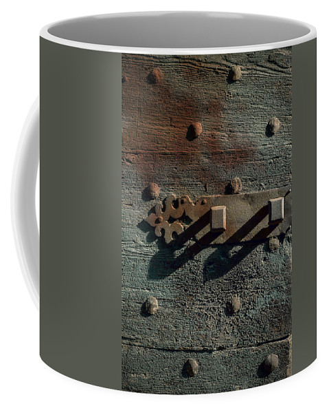 Door Coffee Mug featuring the photograph Wooden Door by Joana Kruse