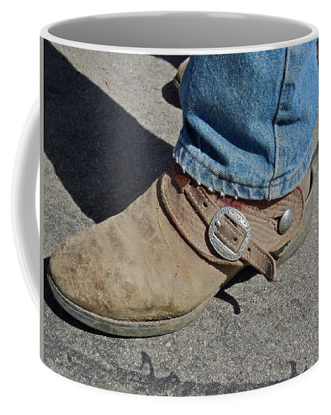 Boots Coffee Mug featuring the photograph Work Boots by Diana Hatcher