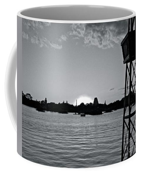 Sunset Coffee Mug featuring the photograph World Showcase Sunset by Carol Bradley