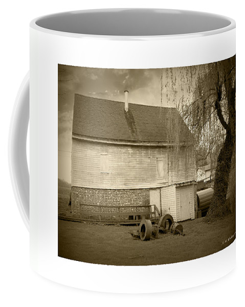 2d Coffee Mug featuring the photograph Wye Mill - Sepia by Brian Wallace