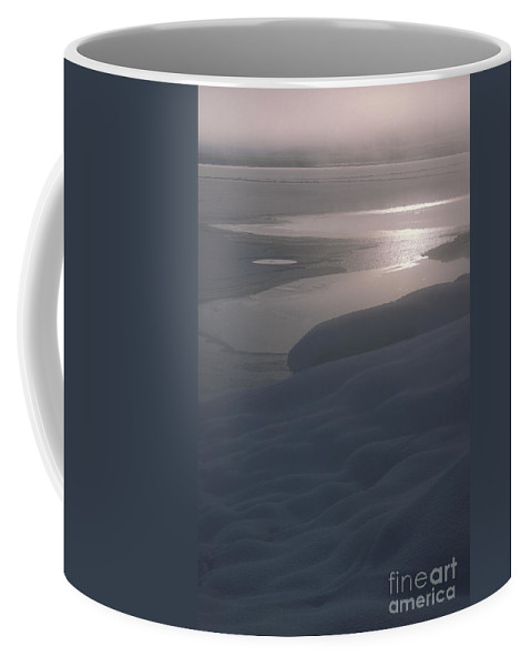 Landscape Coffee Mug featuring the photograph Yellowstone Lake Sunrise by Sandra Bronstein