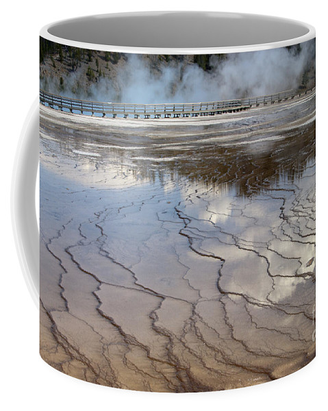 Bronstein Coffee Mug featuring the photograph Yellowstone Reflection by Sandra Bronstein