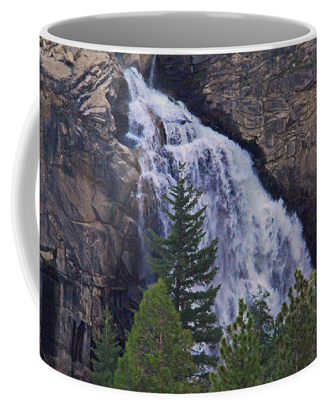 Waterfalls Coffee Mug featuring the photograph Yosemite Waterfall by Lynn Bauer
